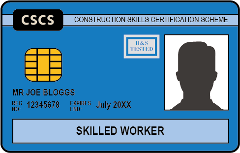 The Blue CSCS Card