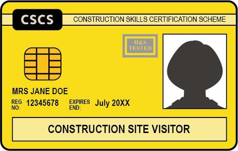 The Yellow CSCS Card